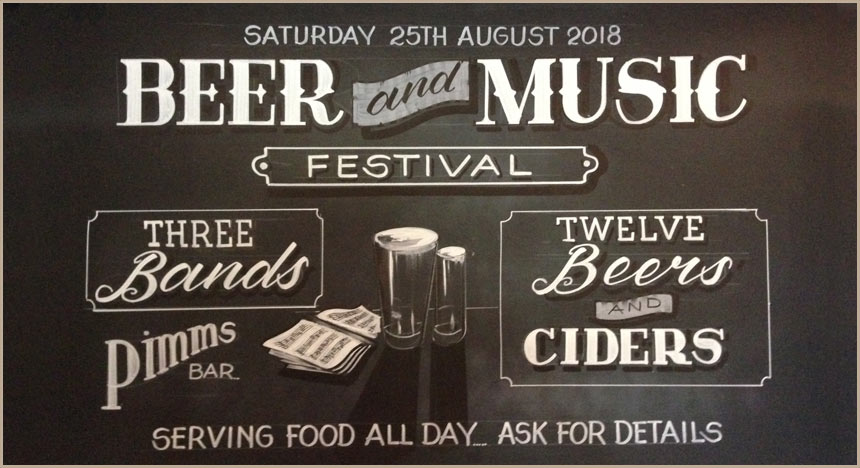 Beer & Music Festival, Saturday 25th August 2018